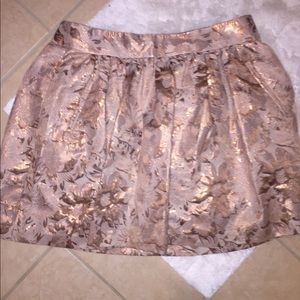 Blush and copper BR skirt